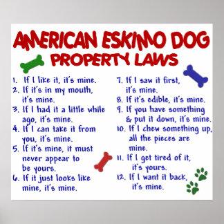 AMERICAN ESKIMO DOG PL2 POSTER