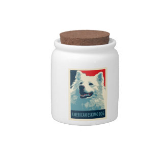 American Eskimo Dog Political Hope Parody Candy Dishes