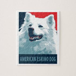American Eskimo Dog Political Hope Parody Jigsaw Puzzle