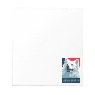 American Eskimo Dog Political Hope Parody Notepad