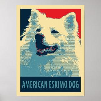 American Eskimo Dog Political Hope Parody Poster