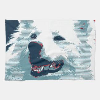 American Eskimo Dog Political Hope Parody Towel