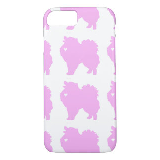 American Eskimo dog pop art silhouette with heart iPhone 7 Case