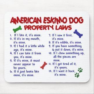 AMERICAN ESKIMO DOG Property Laws 2 Mouse Mat