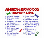 AMERICAN ESKIMO DOG Property Laws 2 Postcard