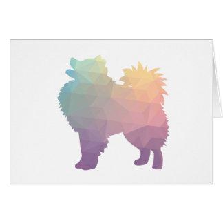 American Eskimo Dog Silhouette Designs Card