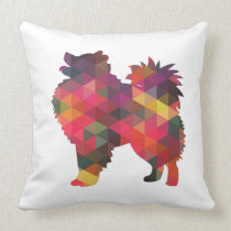 American Eskimo Dog Silhouette Designs Throw Pillow