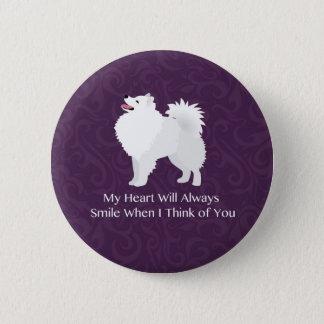 American Eskimo Dog Thinking of You Design Button