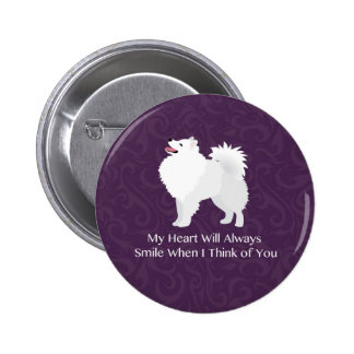 American Eskimo Dog Thinking of You Design Button