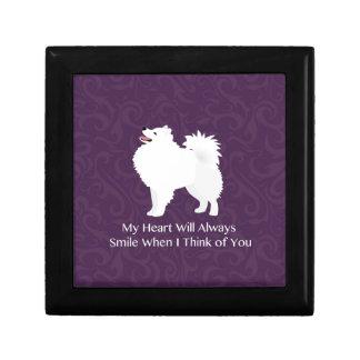 American Eskimo Dog Thinking of You Design Jewelry Box
