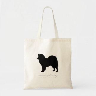 American Eskimo Dog Tote Bag (black silhouette)