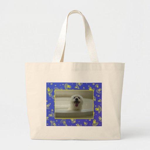 American Eskimo Dog Tote Bags