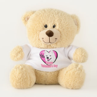 American Eskimo Dog Valentines Day Teddy Bear
