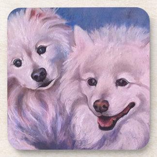 American Eskimo Dogs Beverage Coaster