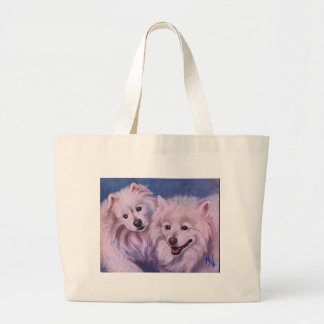 American Eskimo Dogs Large Tote Bag