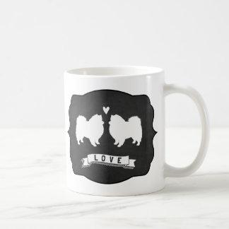 American Eskimo Dogs Love Classic White Coffee Mug