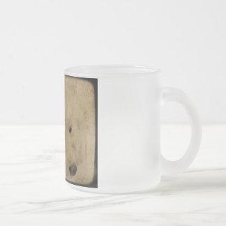 American Eskimo Frosted Glass Coffee Mug