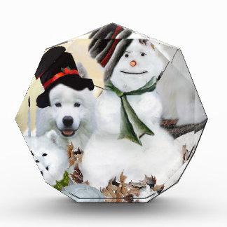 American Eskimo Let It Snow Acrylic Award