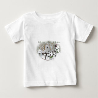 American Eskimo Let It Snow Baby T-Shirt