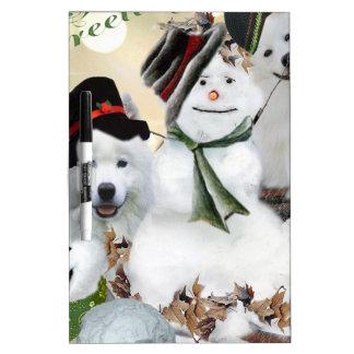 American Eskimo Let It Snow Dry Erase Board