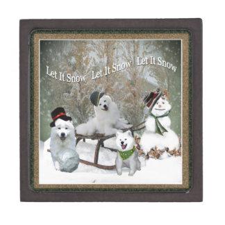 American Eskimo Let It Snow Gift Box