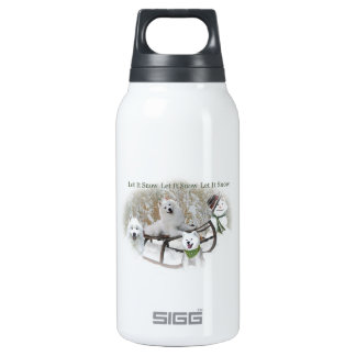 American Eskimo Let It Snow Insulated Water Bottle