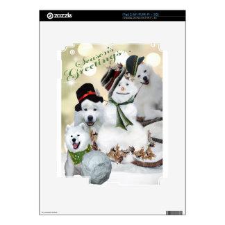 American Eskimo Let It Snow iPad 2 Decals