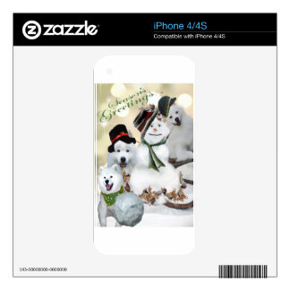 American Eskimo Let It Snow iPhone 4S Skin