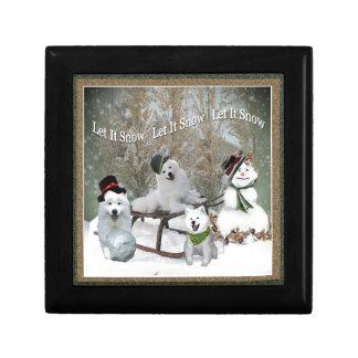 American Eskimo Let It Snow Jewelry Box