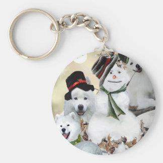 American Eskimo Let It Snow Keychain