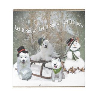 American Eskimo Let It Snow Notepad