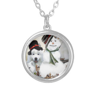 American Eskimo Let It Snow Silver Plated Necklace