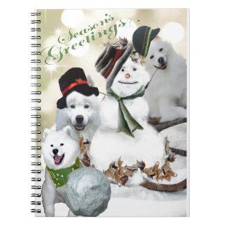American Eskimo Let It Snow Spiral Notebook
