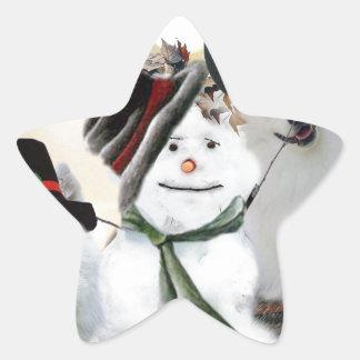 American Eskimo Let It Snow Star Sticker