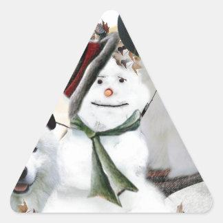 American Eskimo Let It Snow Triangle Sticker