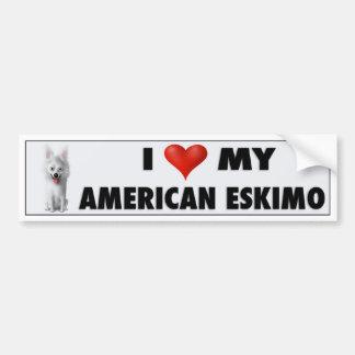 American Eskimo Love Sticker