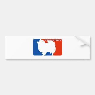 American Eskimo Major League Dog Bumper Sticker Car Bumper Sticker