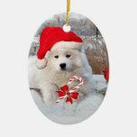 American Eskimo Merry Christmas Ornament