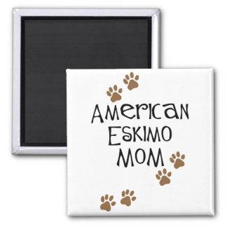 American Eskimo Mom 2 Inch Square Magnet