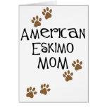American Eskimo Mom Greeting Cards