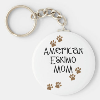 American Eskimo Mom Keychain