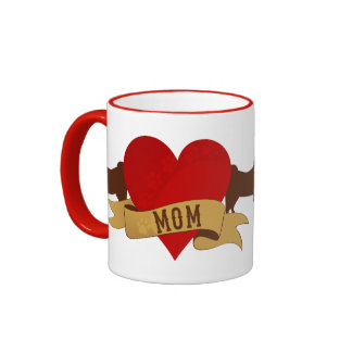 American Eskimo Mom [Tattoo style] Coffee Mug