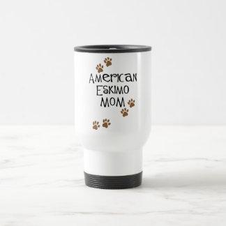 American Eskimo Mom Travel Mug