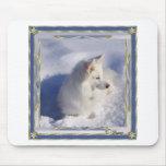 American Eskimo Ornament Frame Mouse Mats