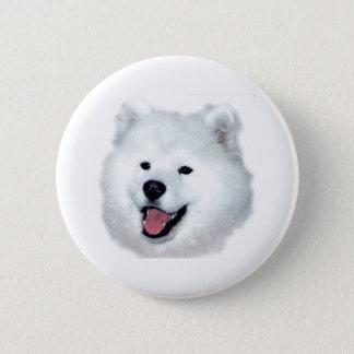 American Eskimo Portrait Button
