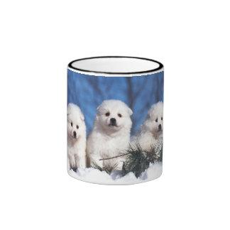 American Eskimo puppies Coffee Mug