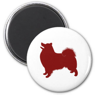 American Eskimo (Red) 2 Inch Round Magnet