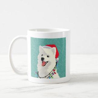 American Eskimo Samoyed Cute Puppy Dog Christmas Coffee Mug
