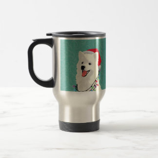 American Eskimo Samoyed Cute Puppy Dog Christmas Travel Mug