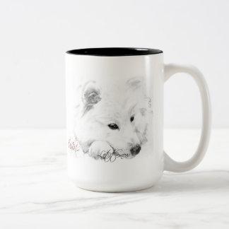 American Eskimo Stella Let it Snow Mug